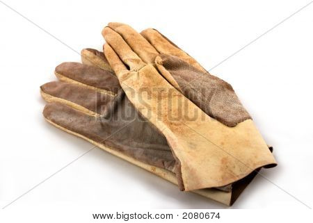Brown Leathen Working Gloves