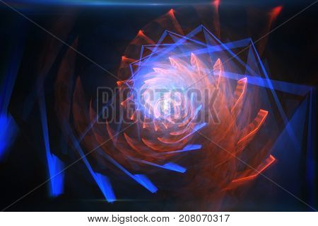 Colorful Abstract Rotate Spiral Background 3D Illustration