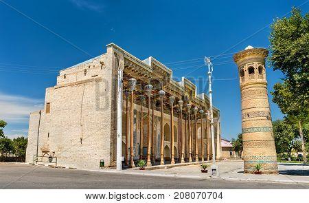 Bolo Hauz Mosque in Bukhara, Uzbekistan. Central Asia