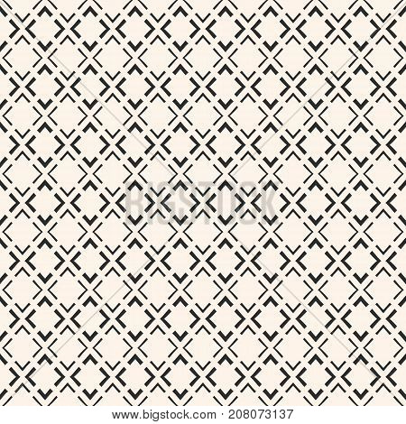 Vector geometric seamless pattern. Modern abstract texture with linear rhombuses thin lines repeat tiles. Simple monochrome background. Square design element for decor, fabric, prints. Ornamental background. Ornament texture.