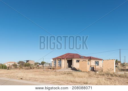 SCHMIDTSDRIFT SOUTH AFRICA - JULY 7 2017: A house in Schmidtsfrift a village in the Northern Cape Province of South Africa