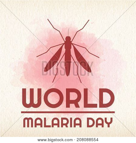 World Malaria Day, 25 April. Big mosquito conceptual illustration vector.