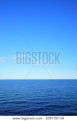 Seascape with sea horizon, may use as background