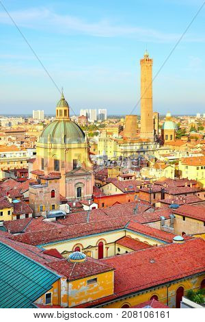 View of Bologna in Italy