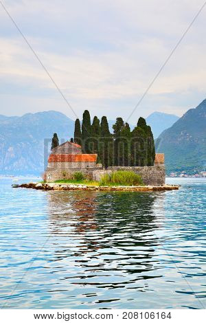 St. George Island in the Kotor Bay, Montenegro