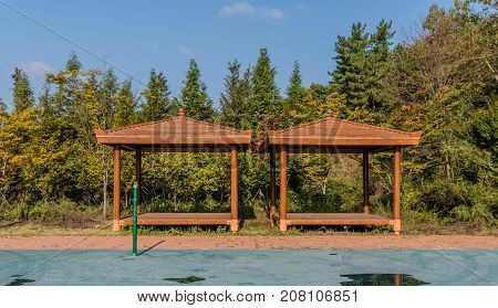 Wooden Covered Picnic Pavilions