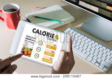 Calorie  Counting Counter Application Medical Eating Healthy Diet Concept
