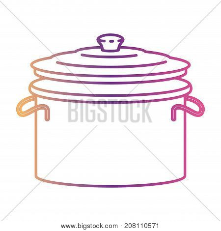 cooking pot with lid silhouette gradient color from magenta to purple vector illustration