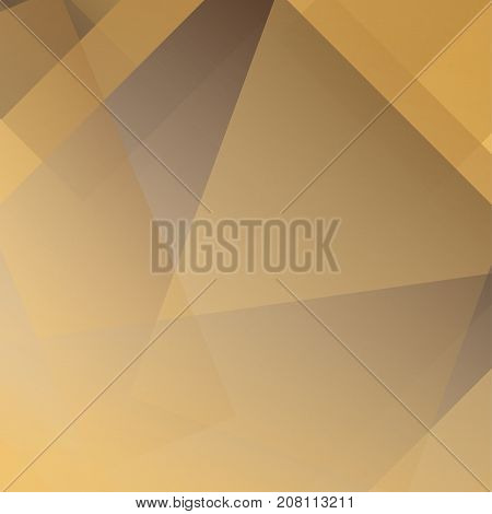 Abstract golden and brown colors modern polygon overlap on background Vector illustration