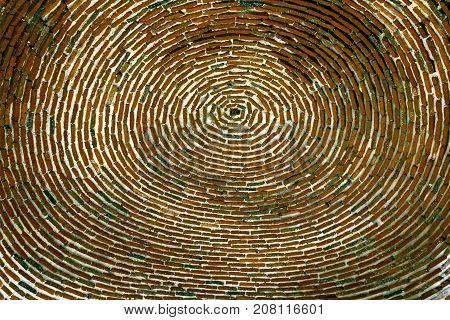 Ancient ceiling in church of Saint Gayane is a 7th-century,Armenia.