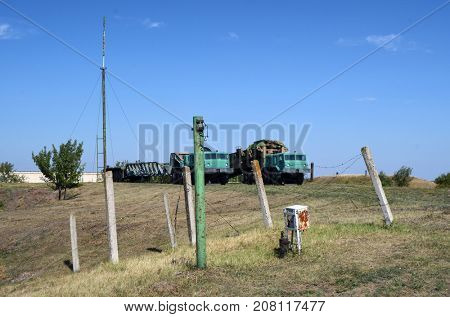 Electronic security system remains around bunker for launch SS-18 Satan team.Museum of Soviet Strategic Nuclear Forces..POBUGSKOE, UKRAINE - September 2, 2017