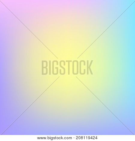 Abstract colorful mesh background with yellow center. Retro background. Vintage photo overlay. Candy color background. Blue pink frame. Marshmallow color palette photo overlay. Vector gradient mesh