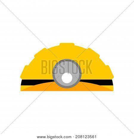 Meiner Helmet Isolated. Working Yellow Helmet. Vector Illustration
