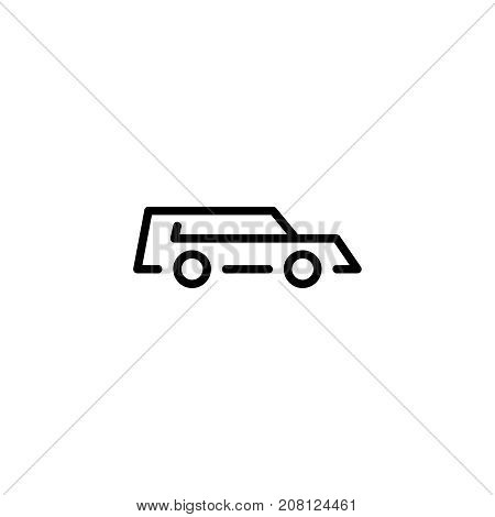 Hearse flat icon. Single high quality outline symbol of funeral for web design or mobile app. Thin line signs of deth for design logo, visit card, etc. Outline logo of life.