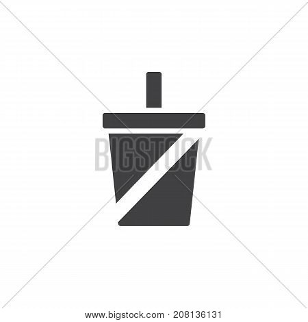 Soft drink icon vector, filled flat sign, solid pictogram isolated on white. Symbol, logo illustration.
