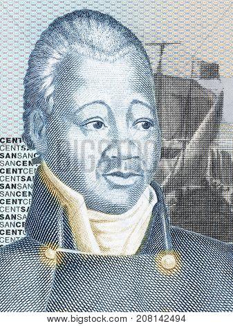 Henri Christophe portrait from Haitian money - Gourde