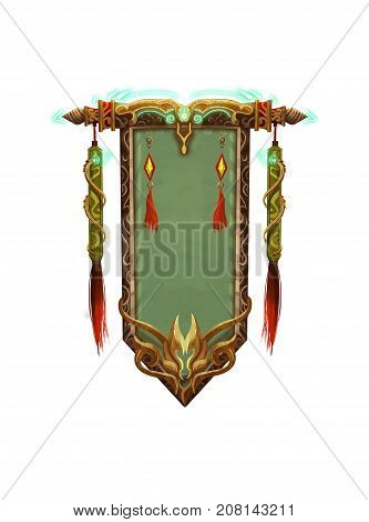 Chinese Ancient Artifact, the Scroll. Video Game's Digital CG Artwork, Colorful Concept Illustration, Realistic Cartoon Style Object Design