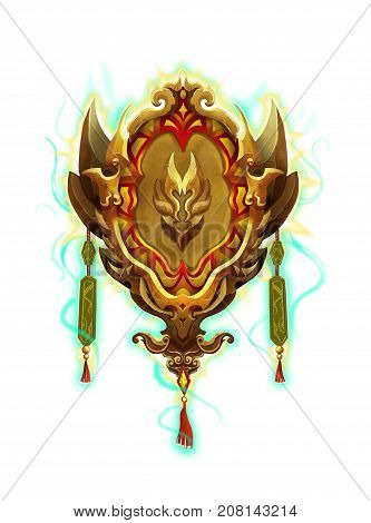 Chinese Ancient Artifact, the Commander's Seal. Video Game's Digital CG Artwork, Colorful Concept Illustration, Realistic Cartoon Style Object Design