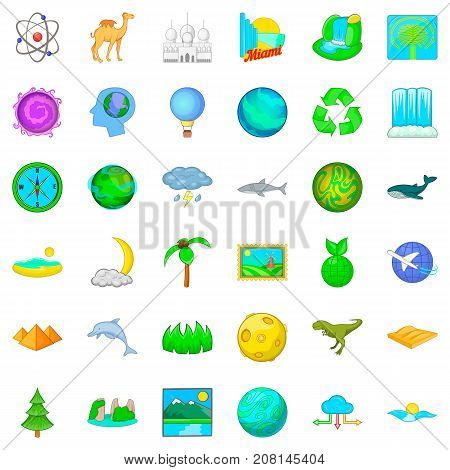 Camel icons set. Cartoon style of 36 camel vector icons for web isolated on white background