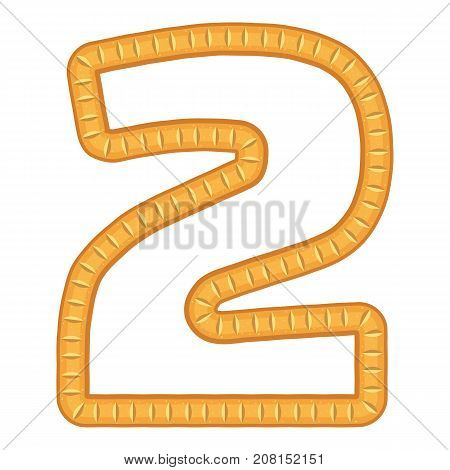 Number two bread icon. Cartoon illustration of number two bread vector icon for web