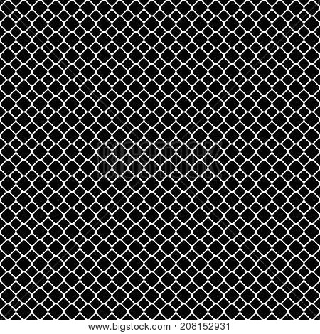 Seamless monochrome diagonal square grid patter background - vector graphic design from rounded squares