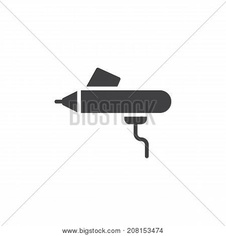 Airbrush icon vector, filled flat sign, solid pictogram isolated on white. Symbol, logo illustration.