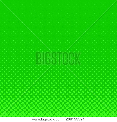 Green abstract halftone ellipse pattern background - vector graphic design with diagonal elliptical dots in varying sizes