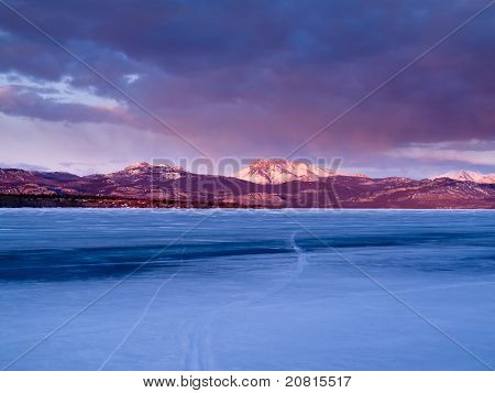 Mt. Laurier and Lake Laberge, Yukon Territory, Canada