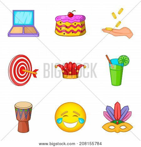 Professional trickster icons set. Cartoon set of 9 professional trickster vector icons for web isolated on white background