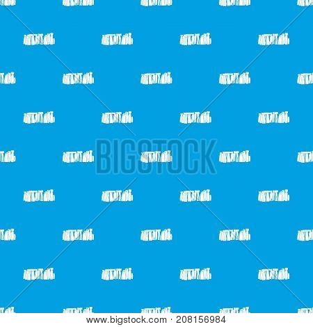 Stonehenge pattern repeat seamless in blue color for any design. Vector geometric illustration