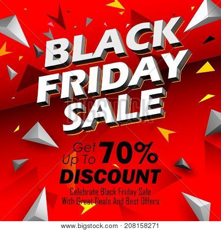 illustration of background for Black Friday Sale shopping Offer and Promotion Background on eve of Merry Christmas