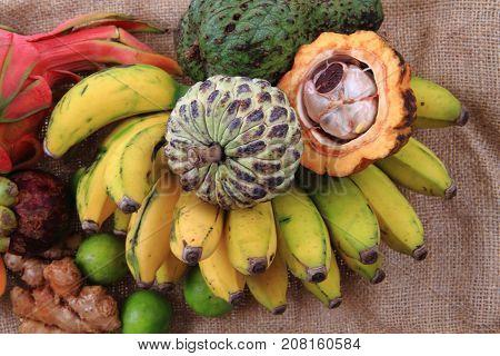 Papaya Annona Passionfruit Avocado