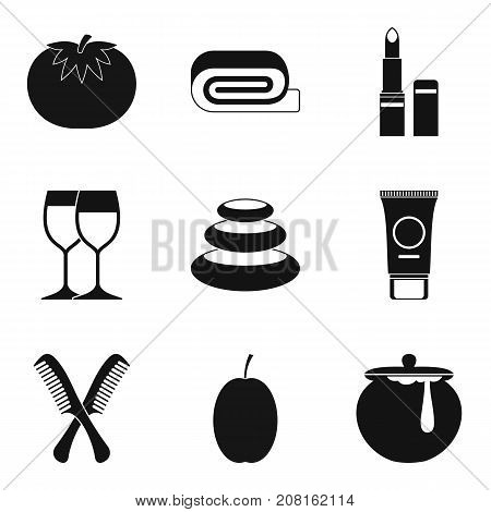 Ointment icons set. Simple set of 9 ointment vector icons for web isolated on white background