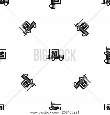 Stacker loader pattern repeat seamless in black color for any design. Vector geometric illustration