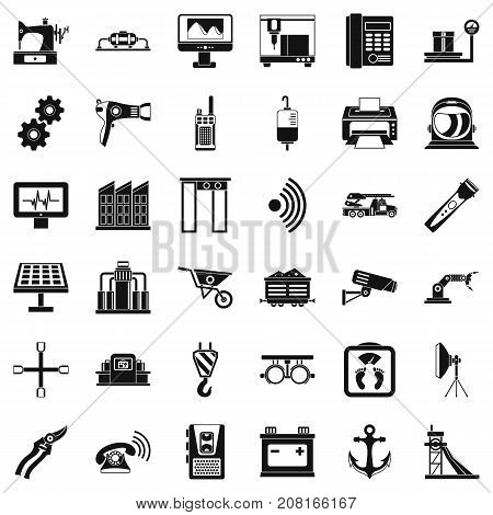 Anchor icons set. Simple style of 36 anchor vector icons for web isolated on white background