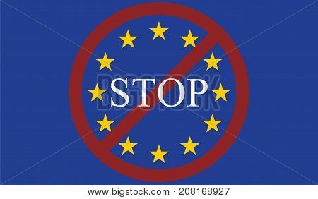 Stop entry / Exit European Union concept