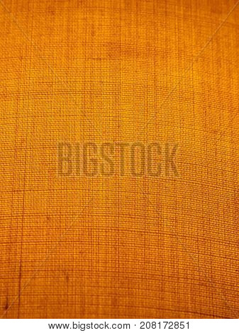 Close Up Fabric Texture Of Lampshade Orange Pattern