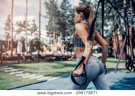 Woman With Trx