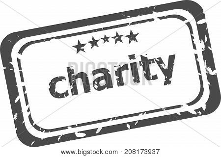 Stamp With Word Charity, Grunge Style, On White Background
