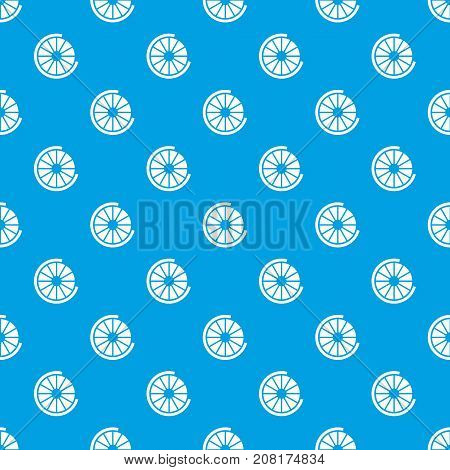 Sign incomplete download pattern repeat seamless in blue color for any design. Vector geometric illustration