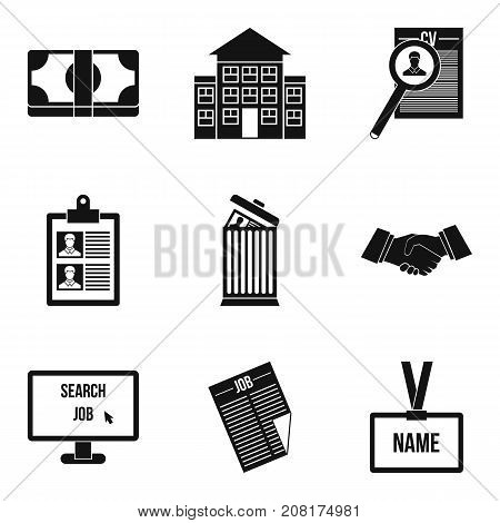 Work solidarity icons set. Simple set of 9 work solidarity vector icons for web isolated on white background