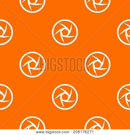 Video objective pattern repeat seamless in orange color for any design. Vector geometric illustration