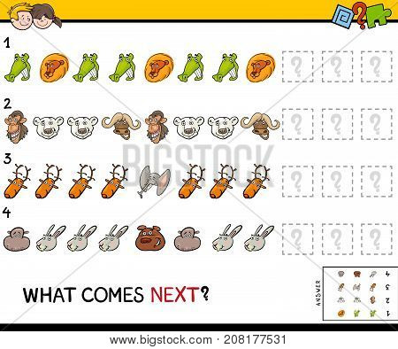 Educational Finish The Pattern Game With Pets