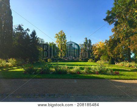 Jardin des Serres d'Auteuil botanical garden in Bois de Boulogne Paris France