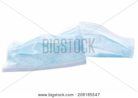 Surgical Mask Isolated On White, Concept Hygiene And Protection Of Infections