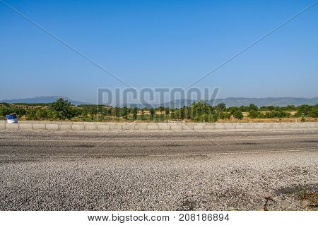 Road In The Vicinity Of The City Of Denizli