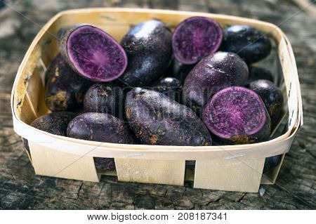 Purple potatoes are a type of potato popular in South America