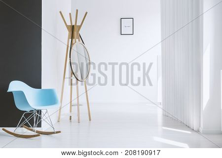 Modern Blue Rocking Chair