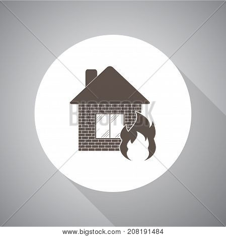 home fire. Vector icon for web and mobile.