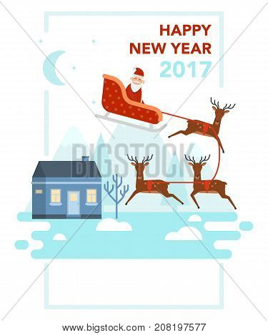 New Year And Christmas Celebration Topic.